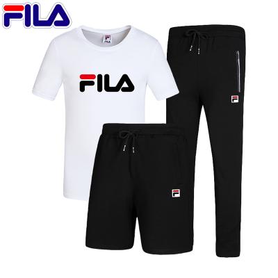 FILA斐樂男子運動套裝2020新款夏季運動休閑三件套裝991男