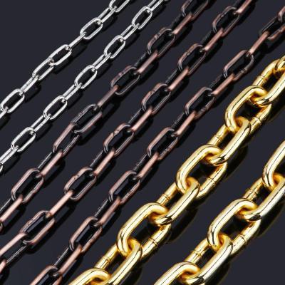 金色链条铁链子吊灯链金属链条铜链条不锈钢铁链条锁大号铜链 青古铜线粗6毫米链条