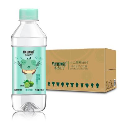 悦动力 青柠味 苏打水 饮料 350ml*15瓶 整箱装