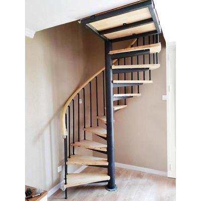 閃電客旋轉樓梯室內閣樓復式閣樓鋼木樓梯家用整體別墅實木loft樓梯定制 熱彎工具押金