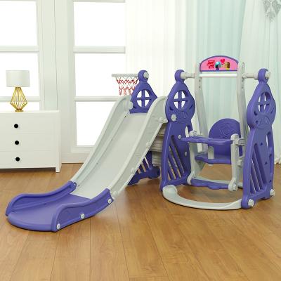 寶寶滑滑梯兒童滑梯秋千組合加長加厚室內家用小孩玩具智扣小型游樂園升級款蘑菇城堡滑梯二合一(炫彩)