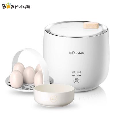 小熊(Bear)煮蛋器 ZDQ-B06R2 家用微電腦預約全自動蒸蛋器溫泉蛋低溫料理神器蘇寧自營