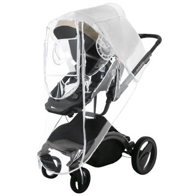 英国risio通用型婴儿推车雨罩儿童车挡风冬季宝宝车防风罩保暖罩推车雨衣L码