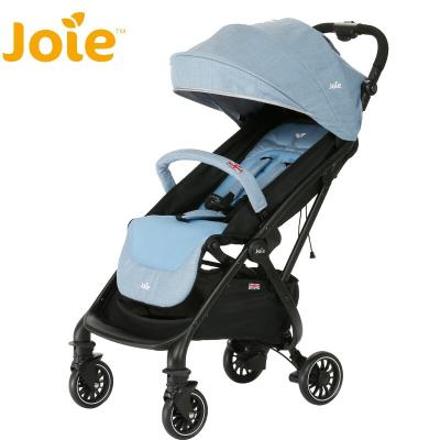 英國巧兒宜Joie嬰兒車推車避震輕便折疊可坐可躺可上飛機便攜式寶寶兒童手推車TOURIST靈動系列 天藍色 四輪推車