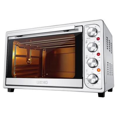 UKOEO HBD-5002 全自动电烤箱家用大容量52L烘焙8管多功能烤箱