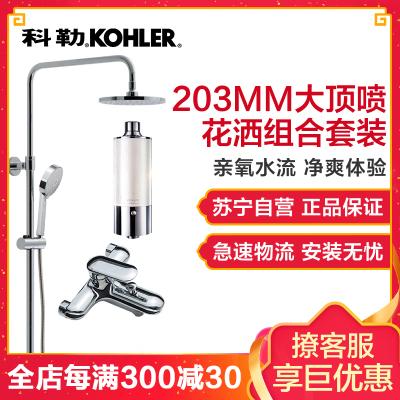 科勒淋浴柱 可升降淋浴花洒龙头套装 淋浴喷头 花洒套装