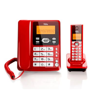 TCL D61 電話機 數字無繩電話 子母機 家用辦公固定電話機 無線座