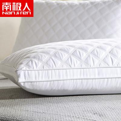 南極人(NanJiren)家紡 羽絲絨枕頭枕芯單只 床上用品絎縫雙邊枕一只單人纖維護頸枕一對拍二