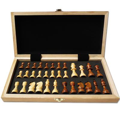 vartsing國際象棋套裝木質大號棋子入門訓練比賽可折疊攜帶方便