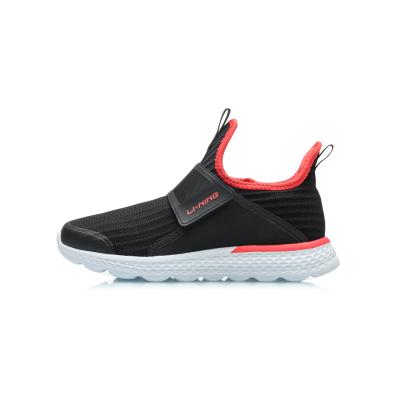 李寧童鞋男女大童跑步鞋7-12歲夏季網面透氣一腳蹬運動鞋