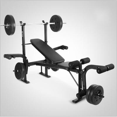 室內多功能家用仰臥板舉重床杠鈴架臥推架力量訓練器健身器材 黑色