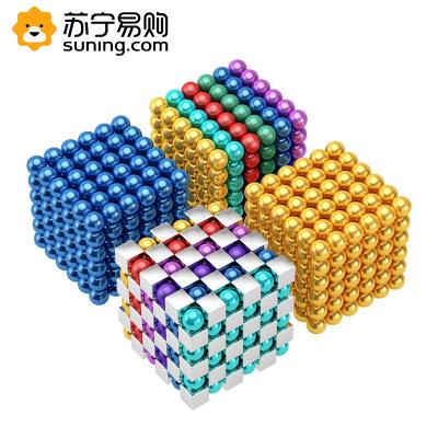 巴克球1000顆磁鐵魔力珠磁力棒馬克吸鐵石八克球兒童智扣益智積木玩具十四歲以上兒童磁力球-六彩216顆+送10顆