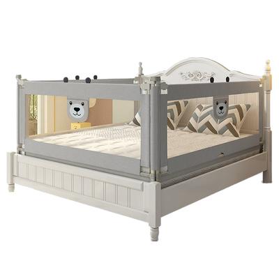【發順豐】KDE嬰兒童大床護欄床欄桿床邊護欄床擋板寶寶床圍欄防摔防掉垂直升降 2米+2米+1.8米 灰色新款三面裝