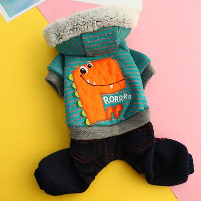 憨憨寵 狗狗衣服個性可愛搞怪恐龍衣小型犬寵物泰迪比熊秋冬四腳衣