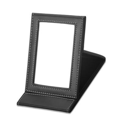 贝览得镜子化妆镜 折叠镜 PU梳妆镜高清镜面随身便携 可折叠美妆面部工具美妆镜