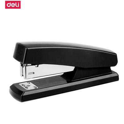 得力deli)0425訂書機適合12號訂書針經濟型訂書器辦公用品學生用品可裝訂20頁黑色