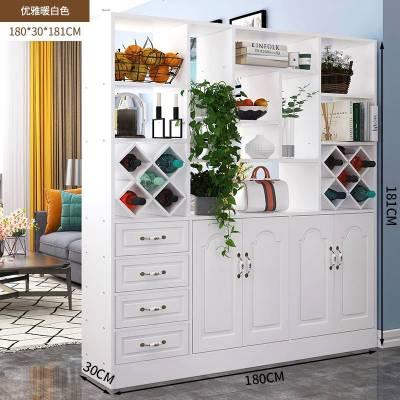 顧致酒柜家用現代簡約柜子靠墻酒柜鞋柜一體歐式屏風 隔斷 客廳玄關柜