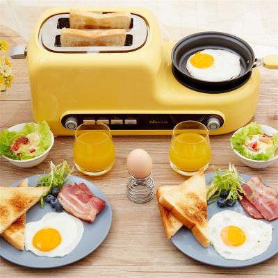 小熊(bear)三明治機家用早餐機烤面包機雙面加熱吐司機早餐三文治機