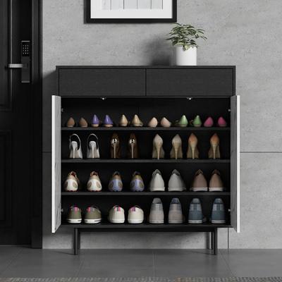 汐巖意式鞋柜對開簡輕奢家用口儲物柜進廳柜玄關柜雙面鞋柜