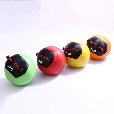 因樂思(YINLESI)健身軟式藥球PU壁球墻球非彈力爆發力實心球不穩定平衡訓練重力球