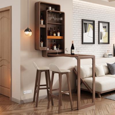 米萊克 掛柜 北歐折疊吧臺桌掛柜簡約現代靠墻酒柜