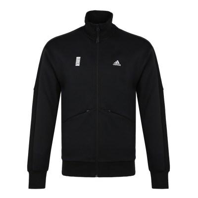 阿迪达斯Adidas 秋季男士WJ TT SWT立领针织运动夹克外套 DM5189