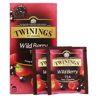 英国川宁(TWININGS) 波 兰进口茶叶袋泡茶包综合野莓果香红茶 25包*2g