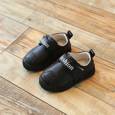 热卖儿童棉鞋男童1-3岁冬季 加绒加厚软底学步鞋男宝宝防水保暖小皮鞋