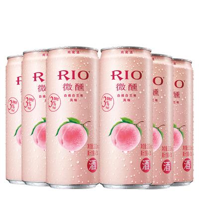 銳澳(RIO)洋酒 雞尾酒 預調酒 白桃味330ml*6