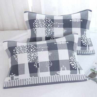 百慕 【枕巾一對裝】純棉枕巾成號加厚三層紗布情侶枕頭巾柔軟透氣