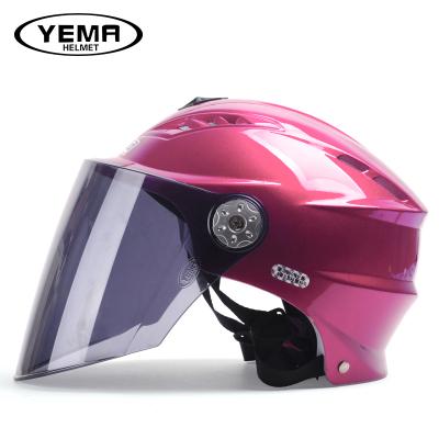 野馬315夏天電動摩托車頭盔 半覆式電動車安全帽 夏季防曬男女電瓶車半盔