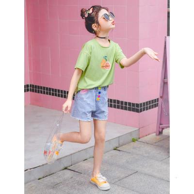 女童短袖T恤夏裝2020新款中大童寬松半袖兒童棉洋氣韓版夏季潮威珺