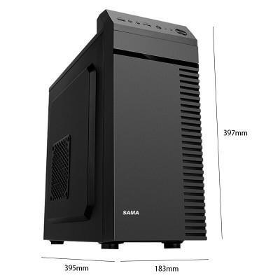 先马(SAMA)商英(黑) 便携式商务电脑小机箱 USB3.0/支持M-ATX主板 电脑机箱 黑色 MINI机箱
