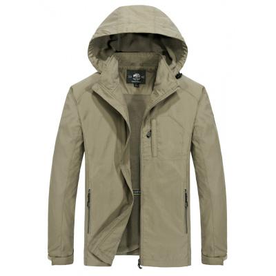 NIANJEEP吉普盾冲锋衣男装大码户外秋冬季中长款加绒夹克外套