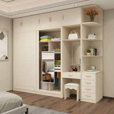 禧漫屋 衣柜推拉門簡約現代經濟型板材質組裝大衣柜臥室2門移門衣櫥