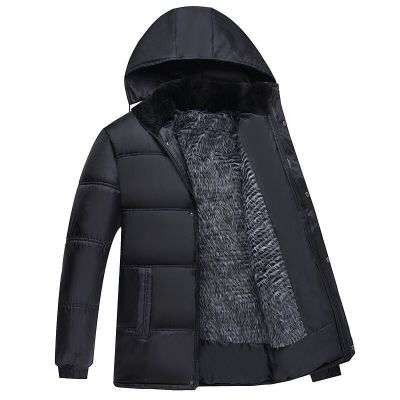 保暖外套棉服中老年爸爸裝大碼男裝冬裝中長款加絨加厚棉襖棉衣男戶外保暖棉衣 TCVV