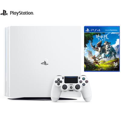 【套餐】索尼(SONY)PS4 Pro 1TB国行家用游戏机白色+地平线 零之曙光 黎明时分 国行中文游戏光盘