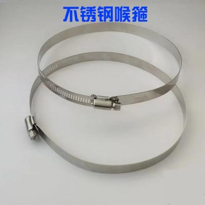 特大201不锈钢喉箍美式全钢喉箍通信卡箍电线杆全孔抱箍监控卡箍 直径251mm-273mm