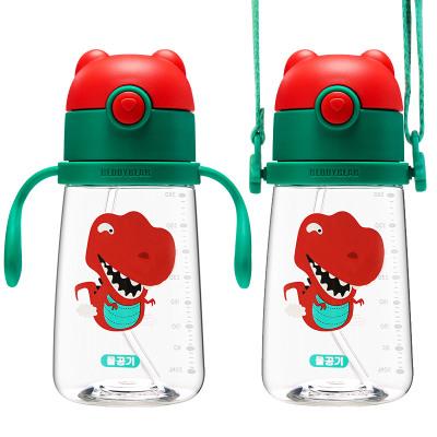 杯具熊兒童水杯幼兒園寶寶防漏吸管杯 兒童防摔防嗆學飲杯 鴨嘴杯BEDDYBEAR