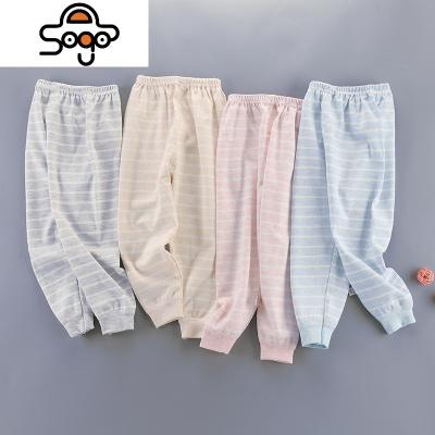 男童秋褲單條兒童襯褲紅彩棉女童棉毛褲單件中小童印花線褲