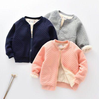 童裝冬款加絨加厚方格圖案馬甲外套嬰幼兒衣服05歲男女寶寶棉衣潮 莎丞