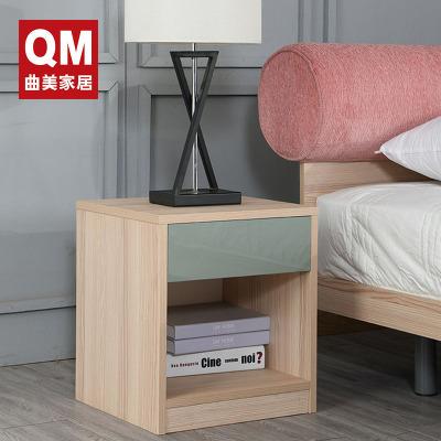 曲美家居(QM) 簡約現代床頭桌 床邊柜 臥室木質床頭柜 儲物低柜