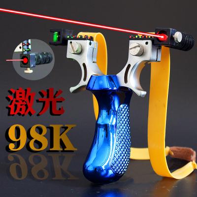 98K高精準光瞄點水平儀免綁快壓夾片弓頭扁皮筋強力彈工