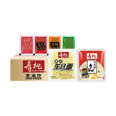 壽桃車仔面 烏冬面非油炸速食方便面 7-11港式拌面撈面12包裝 4種醬料