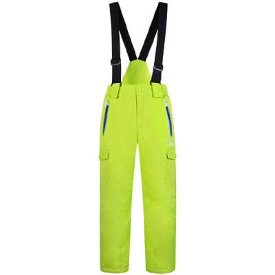 CAMEL/骆驼童裤冬季新款儿童保暖冲锋裤男童长裤休闲吊带裤滑雪裤背带裤