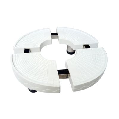 帮客材配 安居士 空调柜机底座 圆形 整箱销售10个一箱 白色
