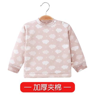 新生兒衣服半背衣0秋冬3個月初生嬰兒加厚夾棉純棉寶寶保暖上衣