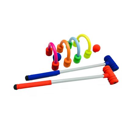 儿童运动健身器材儿童球训练组合球套装彩色软式球球球杆槌球组合训练相互配合体感游戏