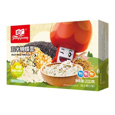 方广 宝宝辅食 含钙铁锌 五米蝴蝶营养面 面片 200g/盒装 小袋分装(6个月以上婴幼儿童适用)