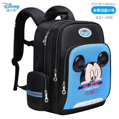 迪士尼(Disney)小學生書包 1-5年級休閑護脊兒童背包 6-12歲男女孩多功能雙肩書包 淺藍色